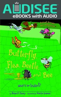 Cover Butterfly, Flea, Beetle, and Bee