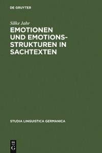 Cover Emotionen und Emotionsstrukturen in Sachtexten