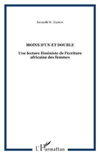 Cover Moins d'un et double-Une lecture feminis