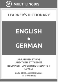Cover English-German (the PoS-Theme-Arranged Learner's Dictionary, Steps 1 - 6)