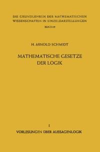Cover Mathematische Gesetze der Logik I