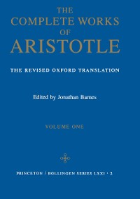 Cover Complete Works of Aristotle, Volume 1