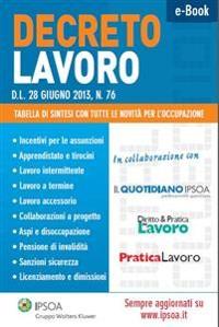 Cover DECRETO LAVORO - D.L. 28 giugno 2013, n. 76