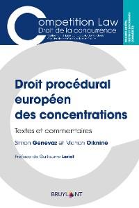 Cover Droit procédural européen des concentrations