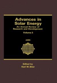 Cover Advances in Solar Energy