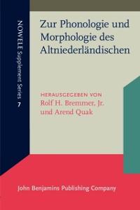 Cover Zur Phonologie und Morphologie des Altniederlandischen
