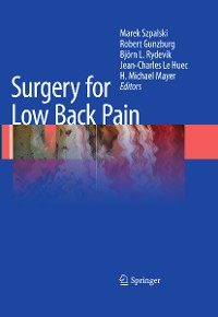 Cover Surgery for Low Back Pain