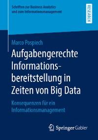 Cover Aufgabengerechte Informationsbereitstellung in Zeiten von Big Data