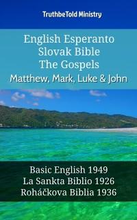 Cover English Esperanto Slovak Bible - The Gospels - Matthew, Mark, Luke & John