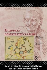 Cover European Democratic Culture