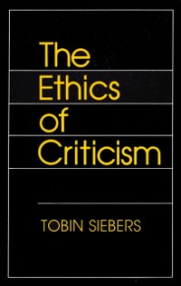 Cover Ethics of Criticism