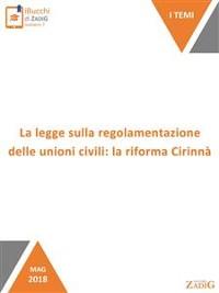 Cover La legge sulla regolamentazione delle unioni civili: la riforma Cirinnà