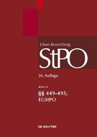 Cover §§ 449-495; EGStPO