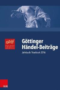 Cover Göttinger Händel-Beiträge, Band 17