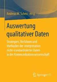 Cover Auswertung qualitativer Daten