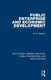 Cover Public Enterprise and Economic Development