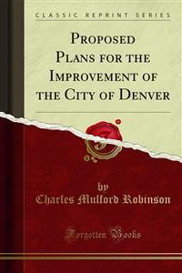 Cover Proposed Plans for the Improvement of the City of Denver