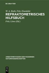 Cover Refraktometrisches Hilfsbuch
