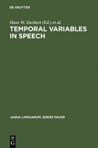 Cover Temporal Variables in Speech