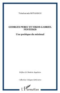 Cover Georges Perec et Nikos-Gabriel Pentzikis