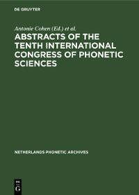 Cover Abstracts of the Tenth International Congress of Phonetic Sciences