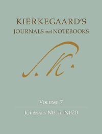 Cover Kierkegaard's Journals and Notebooks, Volume 7