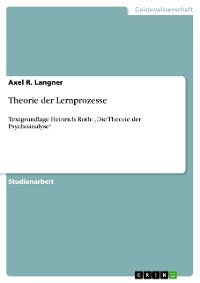 Cover Theorie der Lernprozesse
