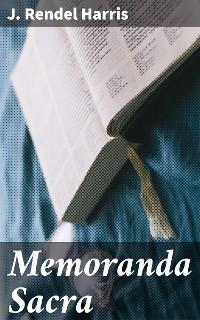 Cover Memoranda Sacra