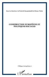 Cover CONSTRUCTION EUROPENNE ET POLITIQUES SOCIALES