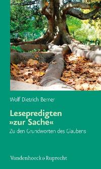 Cover Lesepredigten 'zur Sache'