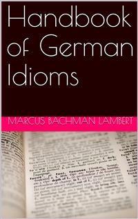 Cover Handbook of German Idioms