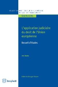 Cover L'application judiciaire du droit de l'Union européenne