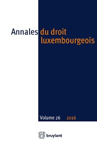 Cover Annales du droit luxembourgeois – Volume 26 – 2016