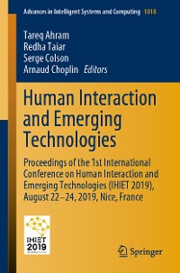 Cover Human Interaction and Emerging Technologies