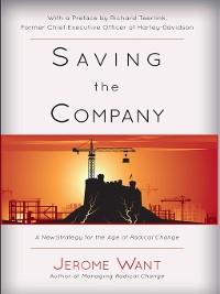 Cover Saving the Company