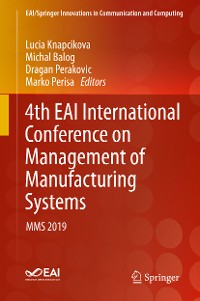 Cover 4th EAI International Conference on Management of Manufacturing Systems