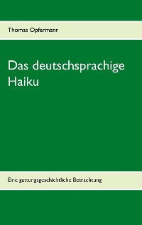 Cover Das deutschsprachige Haiku