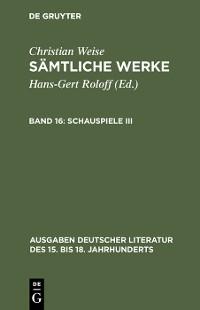 Cover Schauspiele III