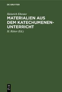 Cover Materialien aus dem Katechumenen-Unterricht