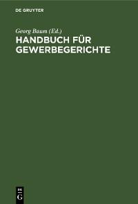 Cover Handbuch für Gewerbegerichte