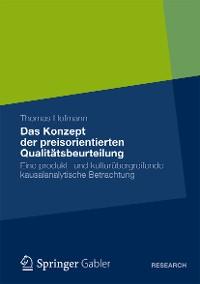 Cover Das Konzept der preisorientierten Qualitätsbeurteilung