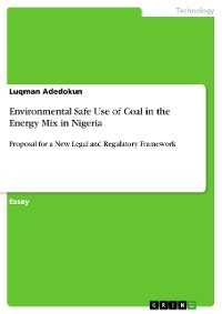 Cover Environmental Safe Use of Coal in the Energy Mix in Nigeria