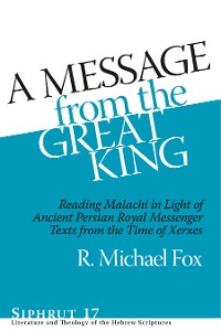 Cover A Message from the Great King