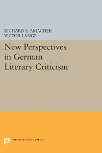 Cover New Perspectives in German Literary Criticism