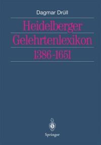 Cover Heidelberger Gelehrtenlexikon 1386-1651
