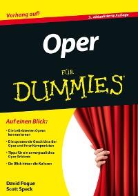 Cover Oper für Dummies
