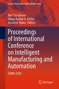 Cover Proceedings of International Conference on Intelligent Manufacturing and Automation