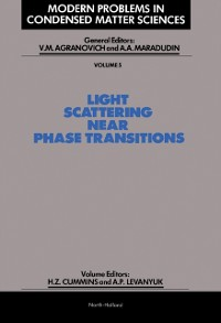 Cover Light Scattering Near Phase Transitions