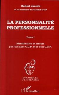 Cover LA PERSONNALITE PROFESSIONNELLE