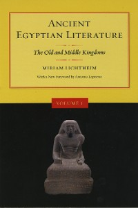 Cover Ancient Egyptian Literature, Volume I